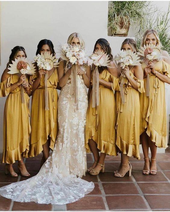 tenues jaunes demoiselle d'honneur mariage bordeaux