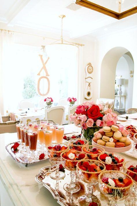 organiser une bridal shower, gateaux et bonbons