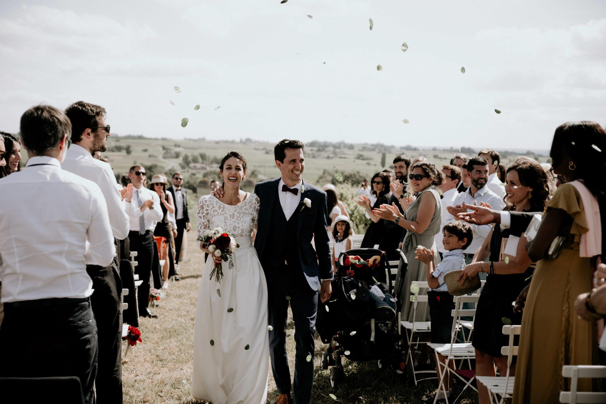 Un mariage au milieu des vignes