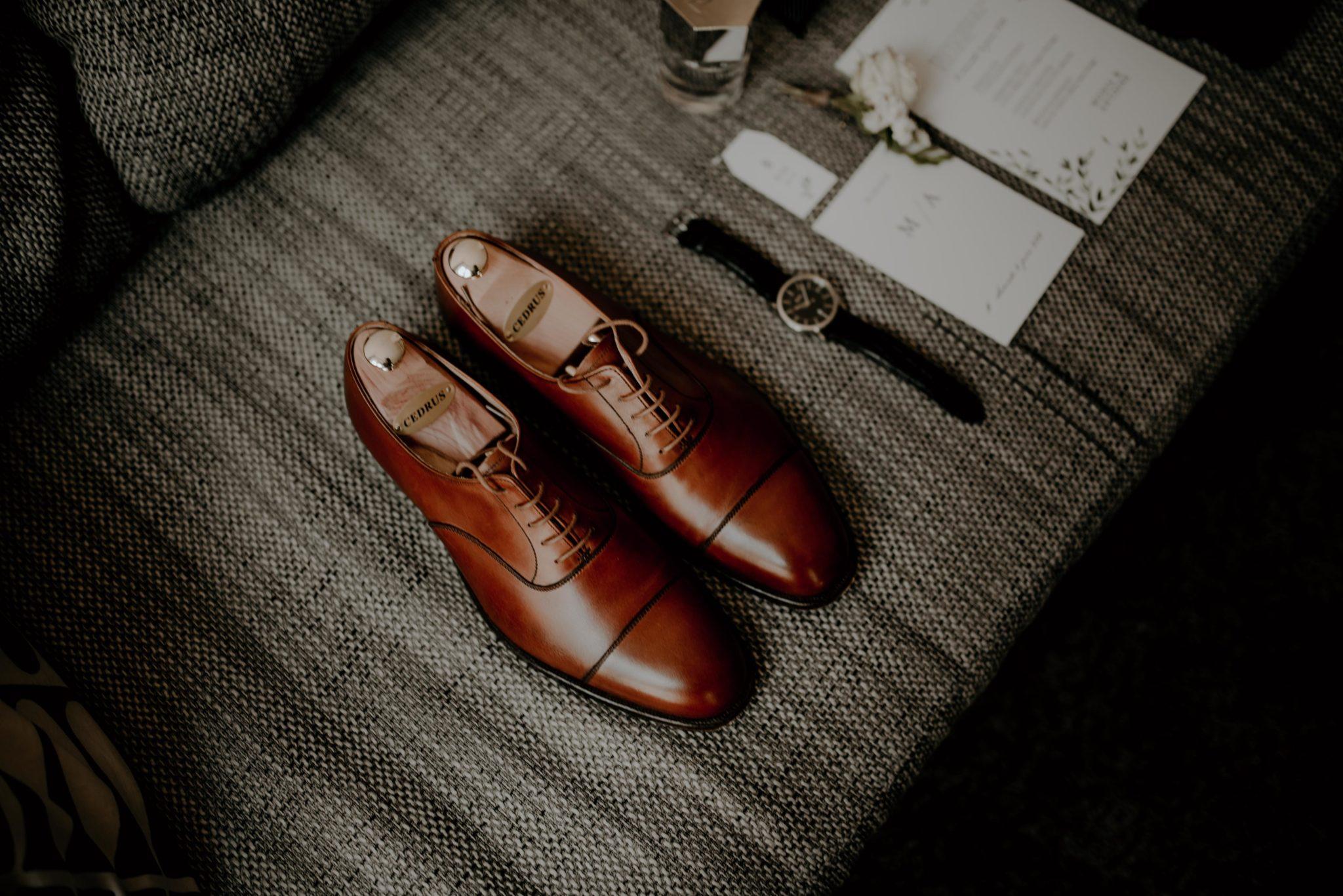 Mariage au milieu des vignes, chaussures