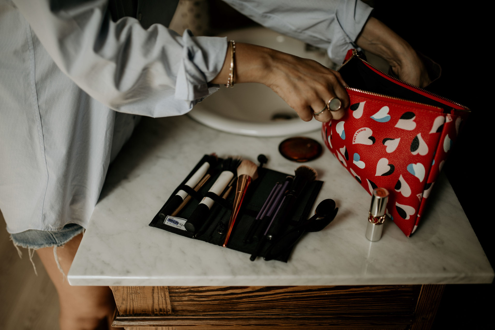 Préparation makeup mariage