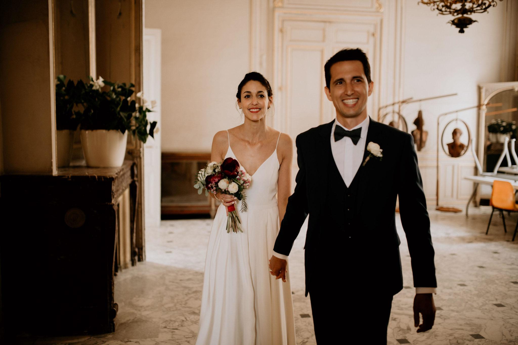Mariage au milieu des vignes, couple, cérémonie