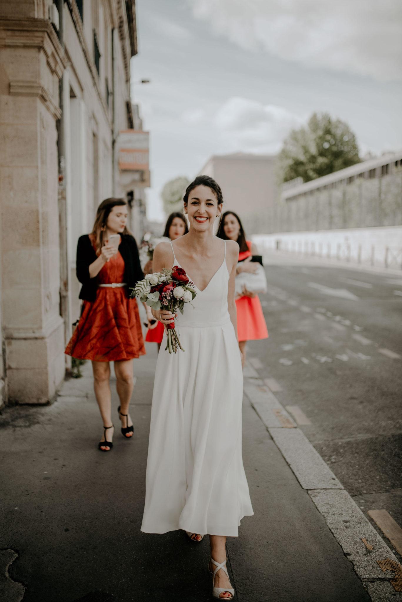 Mariage bordeaux au milieu des vignes, arrivée, girls