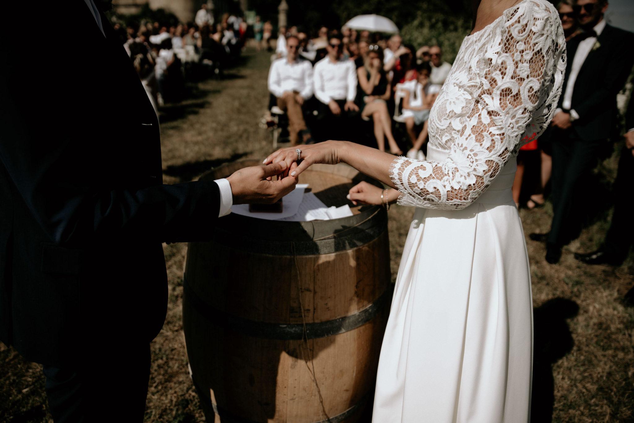 Mariage au milieu des vignes, cérémonie