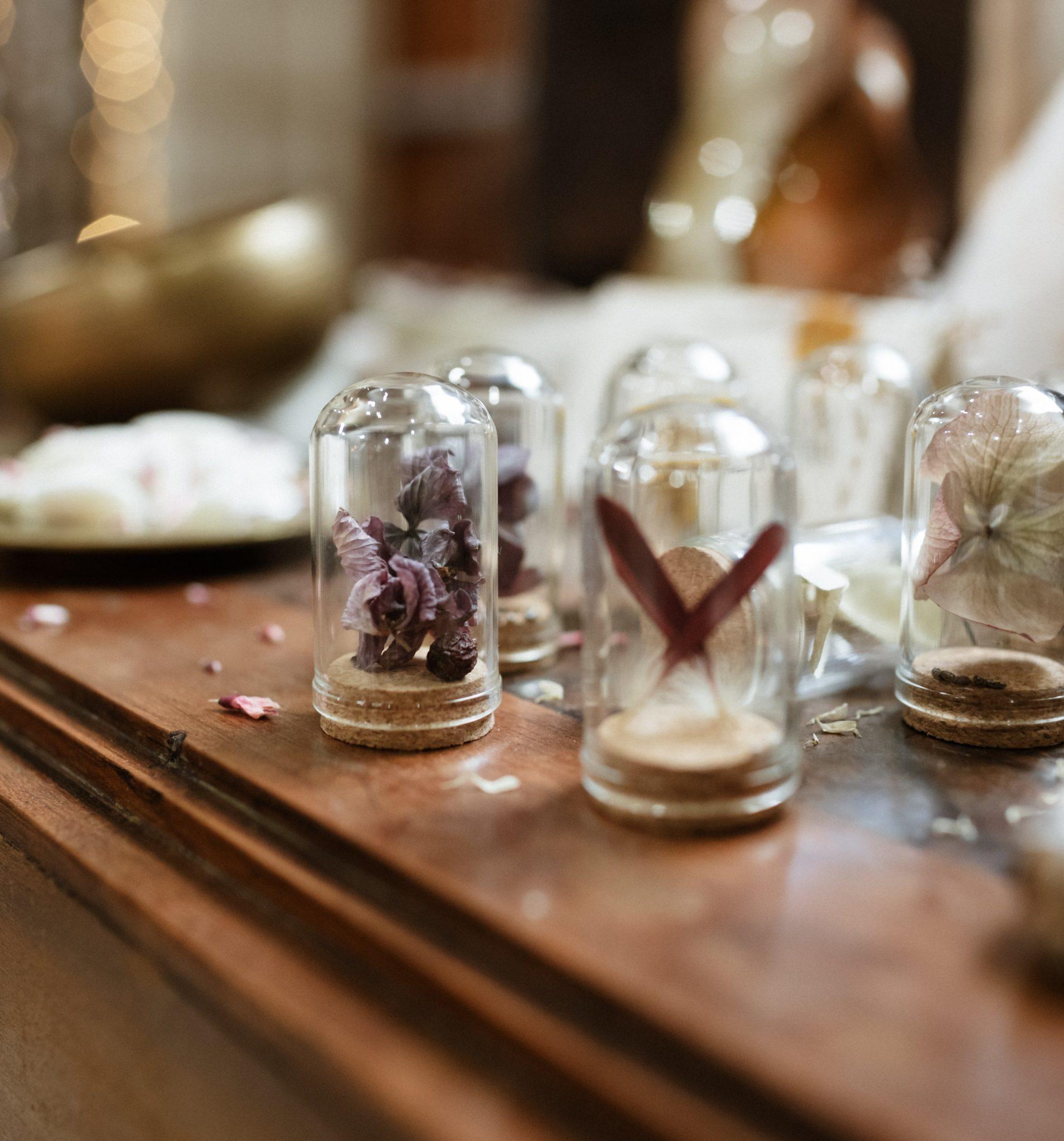 Fleurs séchées cadeaux invités mariage