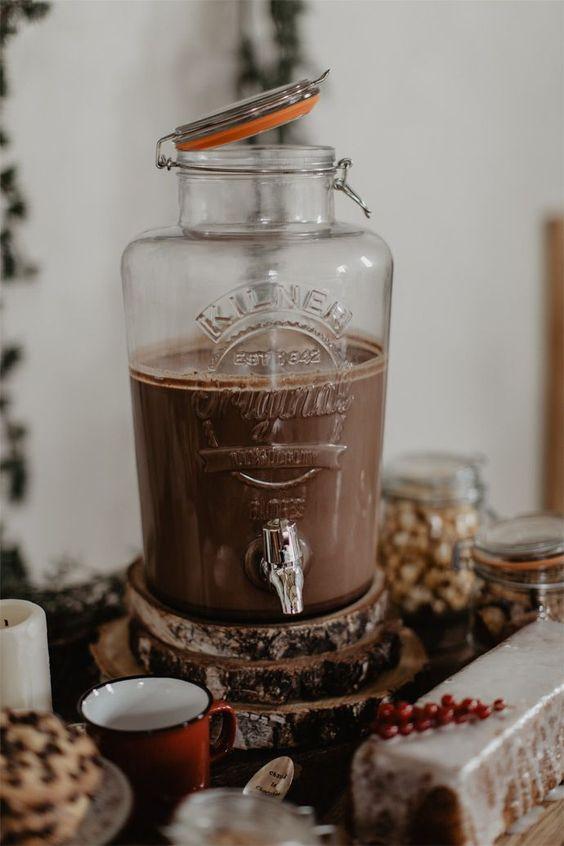 chocolat boisson mariage automne réconfort