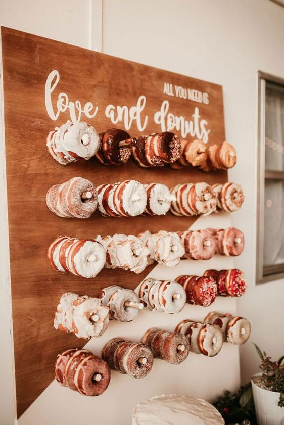 Donuts stand mariage automne gourmandise