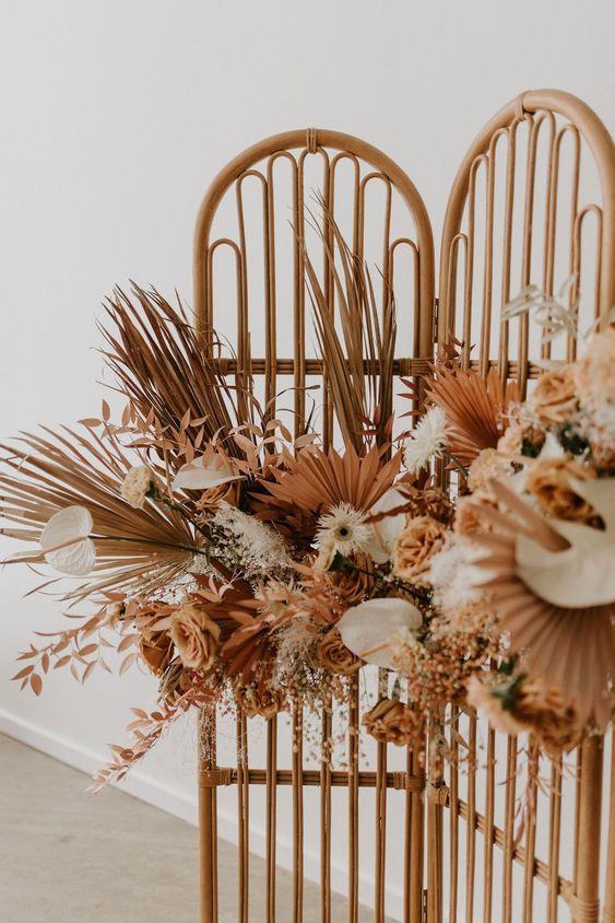 Mariage automne cérémonie décoration fleurs