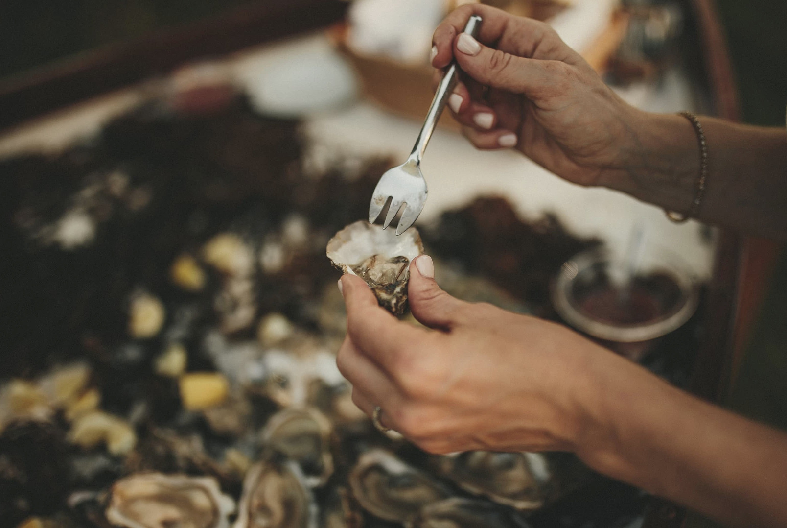 Huîtres saison mariage buffet