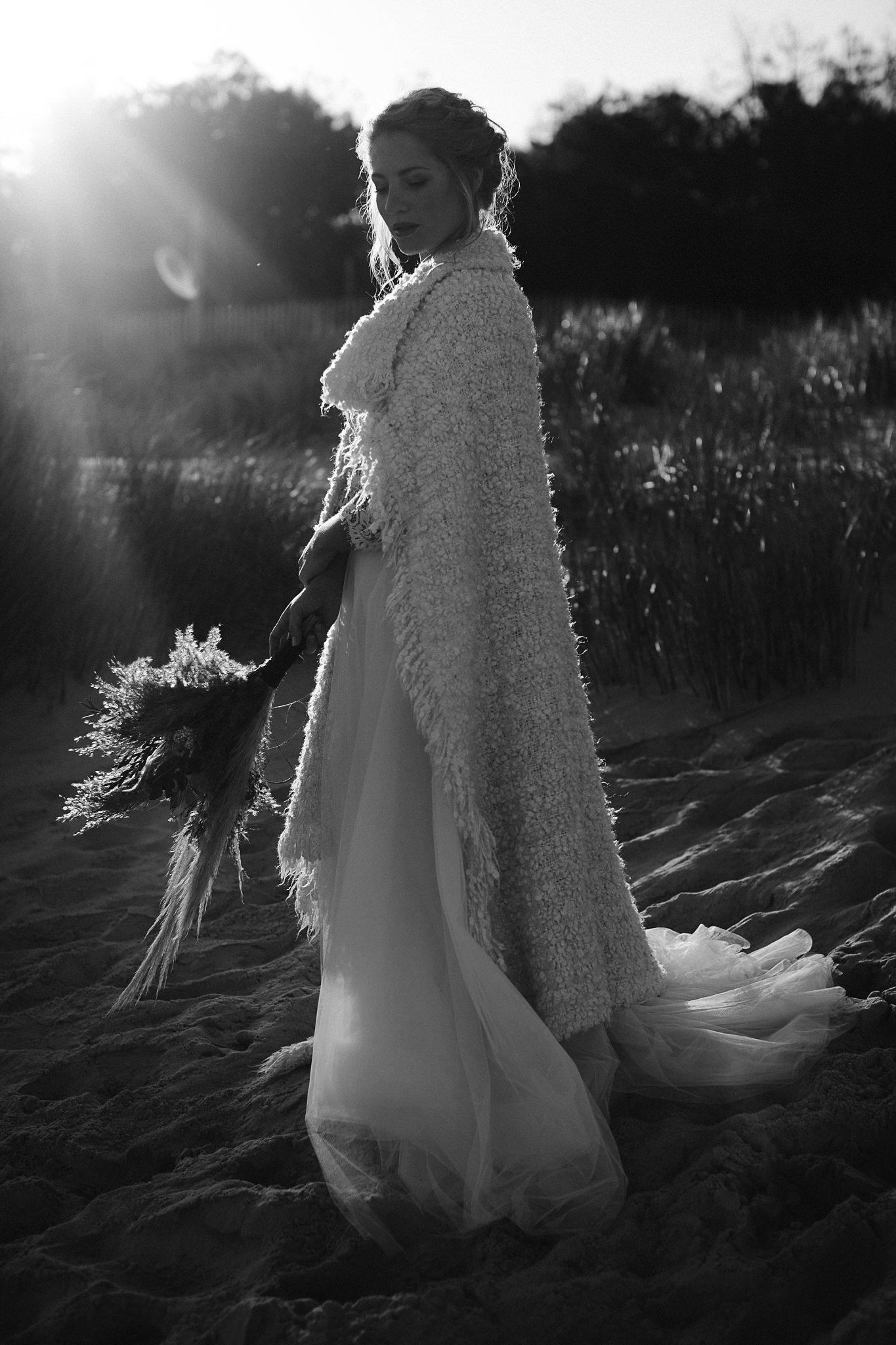 mariée automne bassin d'arcachon