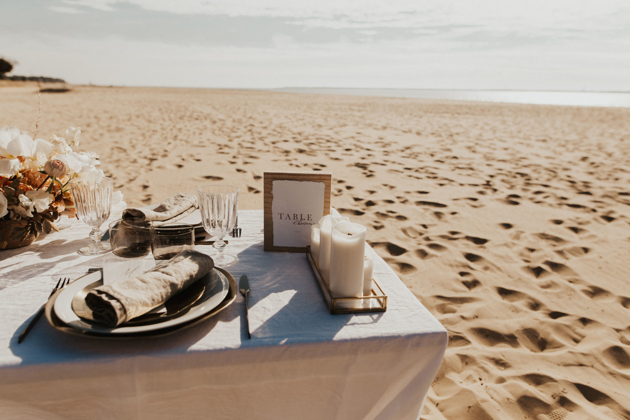 table de maries mariage plage