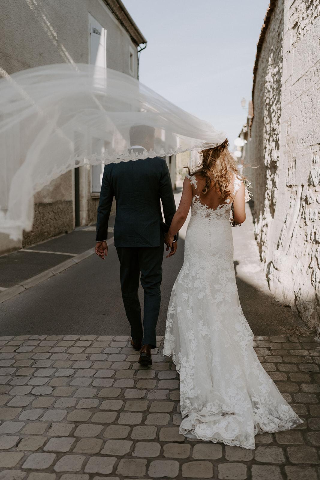 mariage-domaine-lagut-voile-robe-mariee